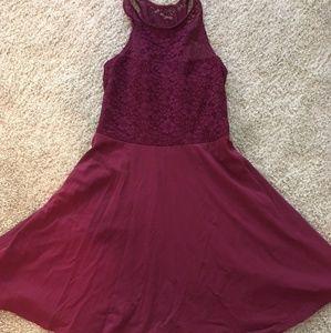 Hollister burgundy dress, size medium